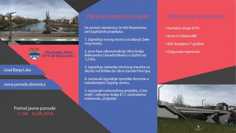 Banja Luka - poziv za kupovinu obveznica