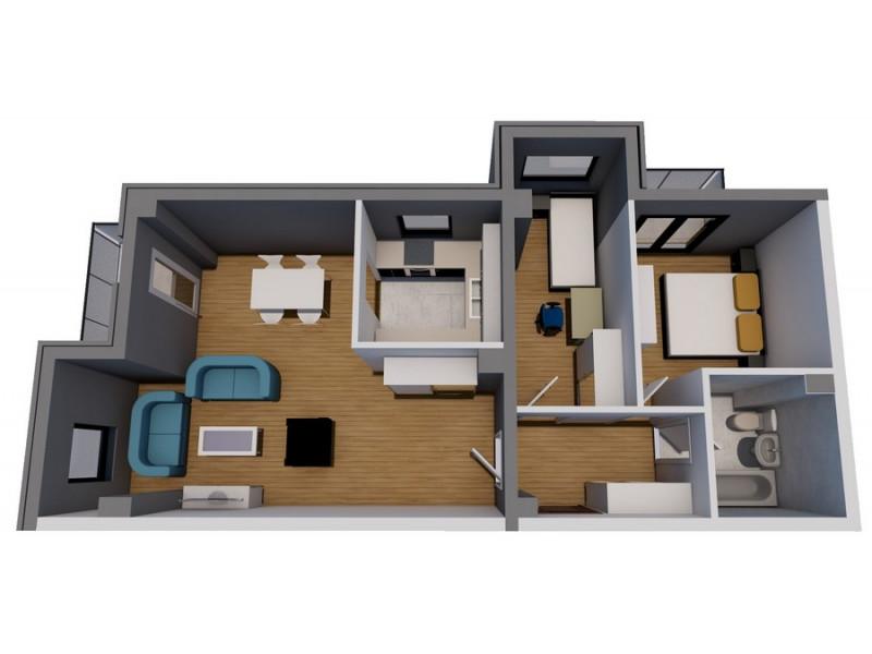 Dvosoban stan (62.31 m2)