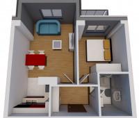 Jednosoban stan (35,13 m2)