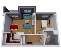 Jednosoban stan (47.49 m2)