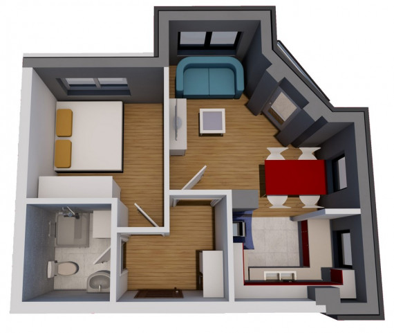 Jednosoban stan (36,48 m2)