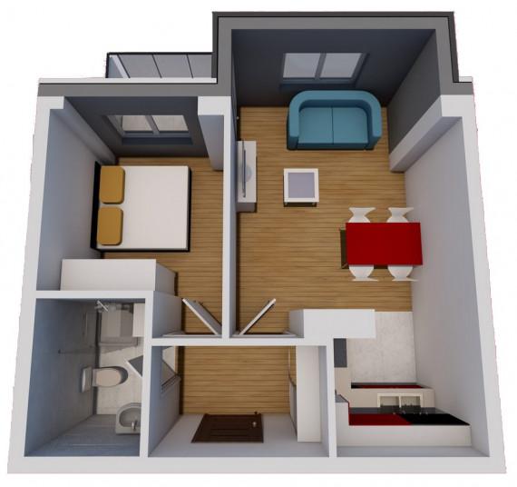 Jednosoban stan (36,82 m2)