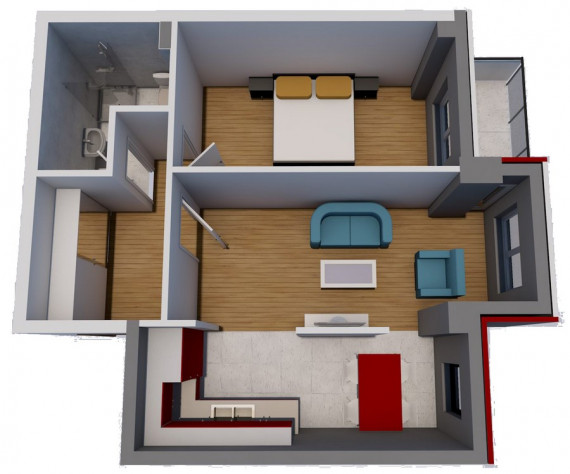 Jednosoban stan (48.78 m2)